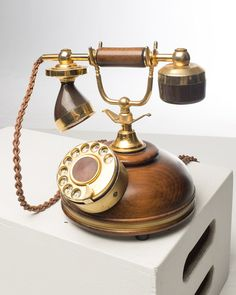 Classic Tabletop Wooden Accent Phone