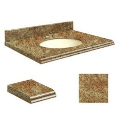 Transolid India Gold Granite Undermount Single Sink Bathroom Vanity To