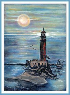anjas-artefaktotum: True friendship is like a lighthouse / Wahre Freundschaft ist wie ein Leuchtturm