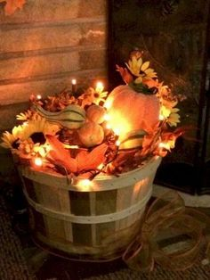 Rustic DIY Fall Decor Ideas (40)