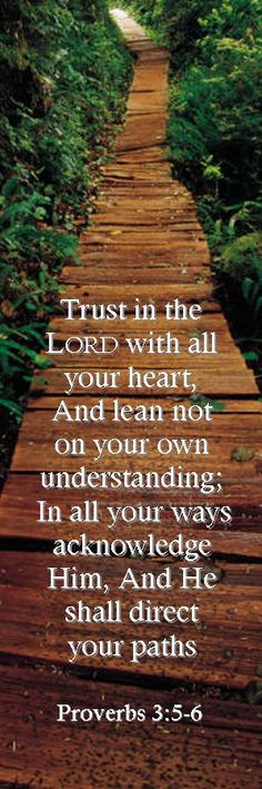 Trust in the Lord with all your heart, and lean not on your own understanding,