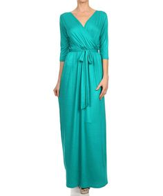 Look at this #zulilyfind! Jade Surplice Maxi Dress #zulilyfinds