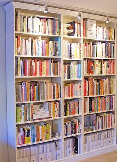 Billy Bookcase Lighting Ideas Inspirational 3 Bookcases Ikea Billy Bookcases Made to Look Like One Ikea Bookshelves, Bookcase Lighting, Ikea Bookcase, Ikea, Built In Bookcase, Billy Bookcase, Home Library, Bookshelves, Bookcase
