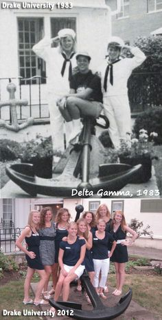 Drake University then and now! Same house, same anchor!