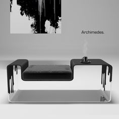 Archimedes and Calligraphy Lamp by Maya Prokhorova, via Behance