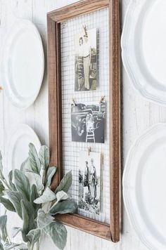 Farmhouse Decor to Make And Sell - Unique DIY Picture Frame - Easy DIY Home Decor and Rustic Craft Ideas - Step by Step Country Crafts, Farmhouse Decor To Make and Sell on Etsy and at Craft Fairs - Tutorials and Instructions for Creative Ways to Make Mone Home Decor Accessories, Decorative Accessories, Cadre Photo Diy, Diy Photo, Marco Diy, Diy Casa, Décor Boho, Home Decor Pictures, Design Blog