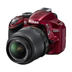 Nikon D3200 24.2-Megapixel Digital SLR Camera with 18-55mm Zoom Lens... ($600) ❤ liked on Polyvore featuring camera and electronics