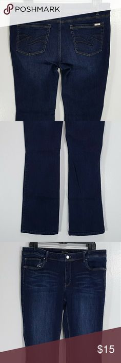 White House Black Market Bootleg Jeans sz. 14R Woman's White House Black Market Boot Leg Jeans  Color: Blue  Size: 14R  Condition: Pre-owned. Good Condition, No Visible Flaws. Pet and Smoke Free.  Measurements: (taken while laying flat) Waist - approx. 35 inches Inseam - approx. 33 inches Length - approx. 42 inches Thigh - approx. 12 inches Leg Opening - approx. 9.5 inches Front Rise - approx. 9.5 inches Back Rise - approx. 15 inches White House Black Market Jeans Boot Cut