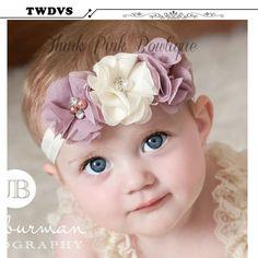 Rhinestone  Ribbon Pearl diamond r  BabyGirls Hairbands