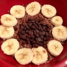 @jillhanner Healthy Chocolate Banana Coach's Oats! Yum