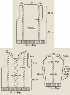 Nusret Hotels Just Another Wordpress Site - Diy Crafts Baby Knitting Patterns, Knitting Charts, Knitting Stitches, Knitting Designs, Hand Knitting, Sewing Patterns, Diy Crochet Cardigan, Knit Crochet, Crochet Waffle Stitch