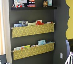 10 Great Kid's Room Bookshelves   Disney Baby I could do this upstairs rather than a conventional shelf!
