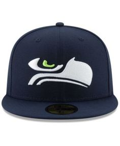 check out aa2b5 97f1e New Era Seattle Seahawks Logo Elements Collection 59FIFTY Fitted Cap - Blue  6 7 8