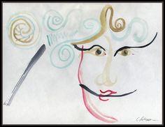 Lady At The Casino Winning Painting  - Lady At The Casino Winning Fine Art Print