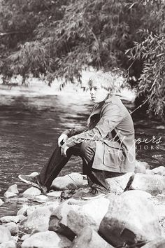 Spokane Senior Guy Photos by the water by Creatively Yours Photography.  #river #seniorpictures