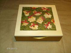 Caixa de guardanapos com motivo de Natal