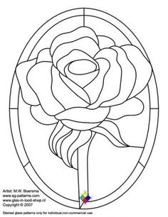 Free stained glass patterns/rose free stained glass pattern - A4 ...