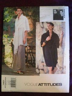 "RARE Vogue 1401 ""Vogue Attitudes"" Badgley Mischka Dress,Top,Pants-Sizes 8/10/12"