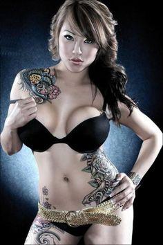 Hot asian tattooed girls toppless