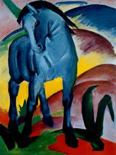 """Franz Marc """"Blaue Pferd"""", 1911"""