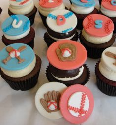 Time for some baseball cupcakes! Baseball Cupcakes, Cheesecakes, Yummy Treats, Homemade, Baking, Desserts, Food, Tailgate Desserts, Deserts