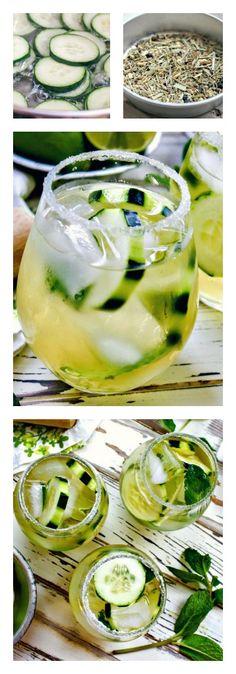 Cucumber and Green Tea Mojito
