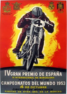 Yugoslavian Motor Cycle Racing 1966 Advertising Poster Reproduction