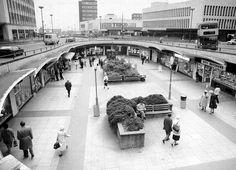 Saturday shoppers in Old Square, Birmingham City Centre, in 1985.