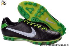 Buy 2013 New Black White Orange Nike Tiempo Legend IV Elite FG Soccer Boots Shop