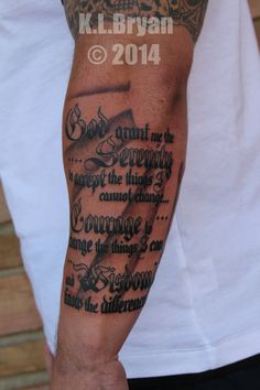 serenity prayer tattoos ideas - Google Search