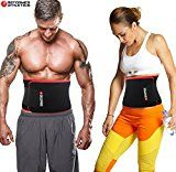 Waist Trimmer Ab Belt Trainer for Faster Weight Loss. Includes FREE Fully Adjustable Impact Resistant Smartphone Sleeve for iPhone 7 and iPhone 7 Plus