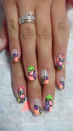 Fayneth Cute Designs, Nail Designs, Paws And Claws, Spring Nails, Triangles, Class Ring, Diana, Nailart, Eye Makeup