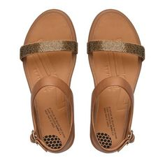 77c576a411a5 Banda™ Micro-Crystal Leather Sandals Fitflop