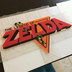 The Legend of Zelda perler beads  by Matt Bandy