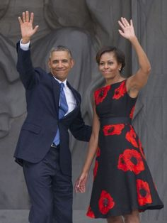 Michelle Obama wearing Tracy Reese