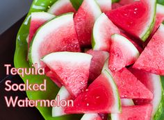 Tequila-soaked Watermelon!   Recipe: http://www.erinsfoodfiles.com/2012/07/tequila-soaked-watermelon.html#
