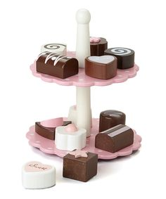 Another great find on #zulily! Wooden Petit Four Set by Rosalina #zulilyfinds