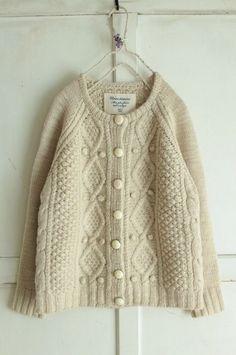 nesessaire アランニットカーディガンIV - crochet