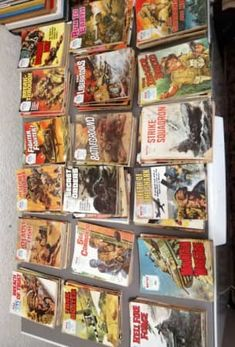 Book Collection, Military, Baseball Cards, Books, Vintage, Libros, Book, Vintage Comics, Book Illustrations