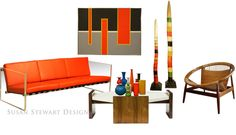Susan Stewart Design | design*byproxy #modern #vintage #interiors #furniture  #art for more details visit:   http://www.design-byproxy.com/