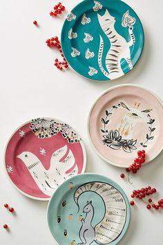 Slide View: 2: Corrina Dessert Plate #PotteryPainting