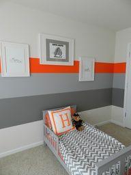 gray orange trim