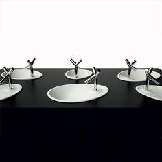Vasque design à encastrer ovale OVO SPA 50x38 cm - Eumar - Sdebain.com