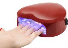 Heart Nail Dryer 3 Watt LED UV Gel Lamp Light Mini Fan Manicure Nail Dryer, Heart Nails, Uv Gel, Pretty Nails, Lamp Light, Acrylic Nails, Manicure, Led