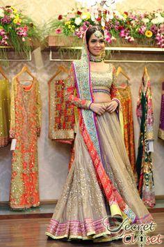 ~ #Gorgeous Bridal #Lehenga by http://NomiAnsari.com.pk/ #Pakistan ~