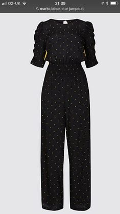 3ae704f1532 BNWT Marks   Spencer Black Star Print Side Stripe Jumpsuit Size 18 Bloggers  Fave  fashion