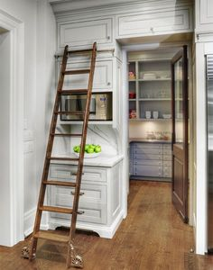 Stand Alone Pantry Cabinets Traditional Style for Kitchen with Kitchen by Braam's Custom Cabinets in Toronto - : Kitchen Design Ideas Kitchen Pantry Design, Kitchen Pantry Cabinets, Kitchen Organization Pantry, Kitchen Ideas, Microwave Cabinet, Pantry Ideas, Microwave Storage, Kitchen Inspiration, Cupboard Storage