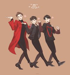 Beagle line fanart ~ Chanyeol, Chen, & Baekhyun