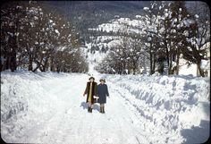 My how times have changed — even in winter. This is Mackenzie Avenue, circa late Earle Dickey photograph courtesy of the Revelstoke Museum & Archives 1940s, Past, Chill, Photograph, Museum, Snow, Times, History, Board