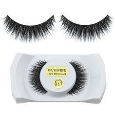 1 Pair Pro Luxurious Real Mink Natural Thick Long Fake Eye Lashes False Eyelashes Makeup Tools